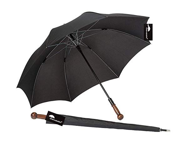 NTOI Unbreakable® Walking Stick Umbrella U-101 Straight Handle
