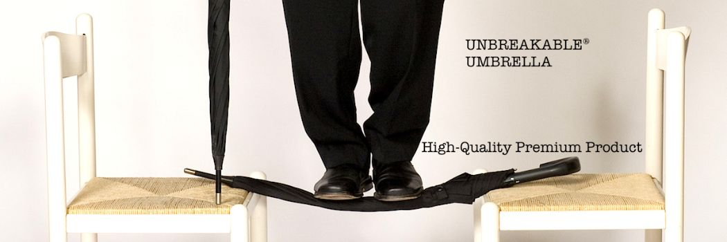 NTOI Unbreakable Umbrella with man on chair